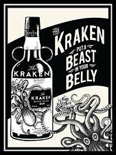 Kraken put a beast in your belly, Retro metal Sign/plaque / Pub / Bar /Kitchen