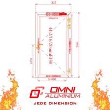 Brandschutztür, T30, Glass, 1122mm x 2080mm, mehrere Farbe, HAMMER PREIS!