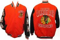 New 2015 Chicago Blackhawks MENS Size L-XL-2XL-5XL 6-Time Champion Jacket