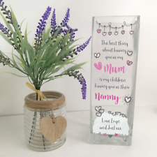 Personalised Printed Vase - Mother's Day, Mum Gift, Nanna Gift (The Best Thing)