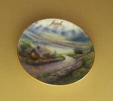 Thomas Kinkade's Simpler Times March - Emerald Isle Cottage Calendar Plate #4