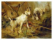 """Artworks Italia Two Smooth-Haired Fox Terriers-Paper Art-38""""x28.352"""""""