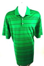 Nike Men's Golf Nike Fit-Dry Polo Style Shirt Green Striped Size Xl Msrp $85