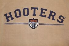 Vintage Retro 1983 Hooters L/S Size XL Sweater Men's Embroidered Patch Tan