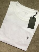 "ALL SAINTS OPTIC WHITE ""NIC TONIC"" S/S CREW LOGO T-SHIRT TOP - S M L XL XXL NEW"