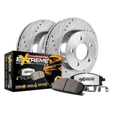Front eLine Drilled Slotted Brake Disc Rotors /& Ceramic Brake Pads FEC.65088.04