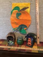 Halloween Vintage Decor Grouping 4 Pc Set Home Interiors & Gifts New # 60