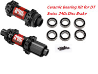 J&L Ceramic Bearings for DT Swiss 240 Disc Brake Thru Axle/QR Hubs-StraightPull