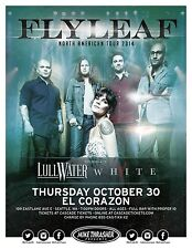 Flyleaf 2014 Gig Poster Seattle Washington Concert
