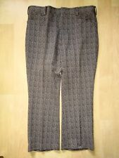 Vtg 70s Superfly Brown Rust Geometric Stripe Poly Knit Disco Pimp Flare Pants 38