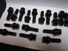 FIAT SPIDER, 500,  LUG BOLTS, BLACK, 12X1.25, MONZA, COMPETIZIONE & ROTA WHEELS