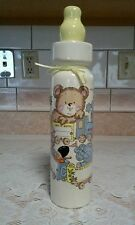 New W/O Box Vintage Baby Bottle Coin Bank 1986 Cambium Designs 14 1/2' tall