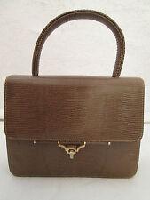 Sublime  et mignon sac à main   en Lézard  TBEG vintage bag