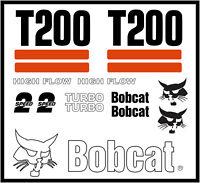 DECAL KIT for Bobcat skidsteer T200 track loader decals Stickers pre 03