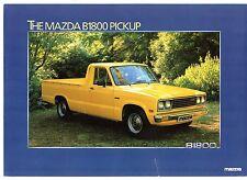 MAZDA b1800 PICK-UP 1981-82 UK Opuscolo Vendite sul Mercato Opuscolo
