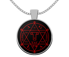 Esoteric necklace - Goetia Hexagram Seal of Solomon symbol - occult gift pendant