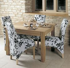 Mobel solid oak dining room furniture small four seater dining table