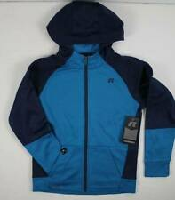 New Boys Tech Fleece Zip Hoodie Xl 14 - 16 Blue Wicking Pockets Hooded Jacket