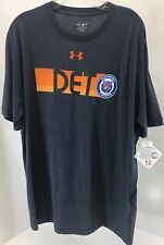 Under Armour Mens Dertroit Tigers T Shirt Color Heather Steel Blue Size Xl