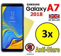3x HQ MATTE ANTI GLARE SCREEN PROTECTOR COVER FILM GUARD SAMSUNG GALAXY A7 2018