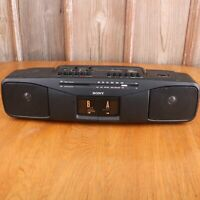 Sony CFS-W304 Portable Stereo Boombox AM/FM Radio Dual Cassette Player
