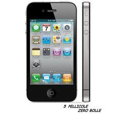 5 Pellicola OPACA per Apple IPHONE 4G 4S Protettiva Pellicole MATT ANTIMPRONTA