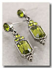 147a Vintage Victorian Look Olivine Green Swarovski Elements Crystal Earrings