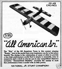 "Model Airplane Plans (UC): dmeco's ALL-AMERICAN SENIOR 51"" Stunt for .29-.49"