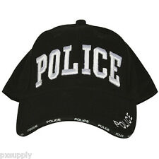 cap black ballcap hat police embroidered fox outdoor 78-70