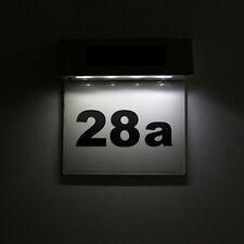 Solaire en acier inoxydable 4 portes LED Numéro de plaque Light House Door Lamp