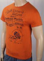 Polo Ralph Lauren Orange Custom Fit Fishing Tee T Shirt NWT