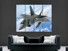 FIGHTER JET ARMY MILTARY PLANE SKY  ART WALL LARGE IMAGE GIANT POSTER