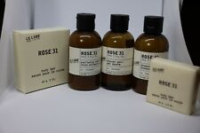 Le Labo Rose 31 Travel Size 5 Pc 3oz (90ml)  - Shampoo, Shower Gel, Lotion.