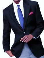 MICHAEL KORS Mens NAVY BLUE WOOL $350 DESIGNER 2 SILVER BUTTON BLAZER JACKET 46L