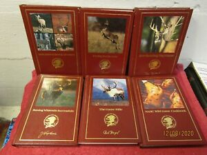 Lot of 6 North American Hunting Club Books Bowhunting Game Recipes Hard Cover
