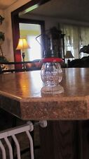 Vintage Glass Candy Container Lantern T.H. Stough Co.Gelatin Metal Top 3 1/4""