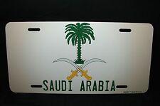 SAUDI ARABIA COAT OF ARMS FLAG METAL NOVELTY LICENSE PLATE FOR CARS شعار السعودي