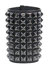 Pyramid Stud 8 Row Punk Rockers Gothic Bracelet Glam Thrash Heavy Metal