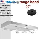 "30"" Under Cabinet Range Hood Stainless Steel 230 CFM Vented Kitchen Cooking Fan photo"