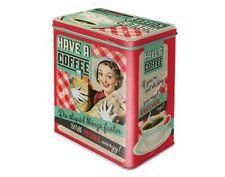 Vintage Retro Classic Tin, Container, Jar, Tea, Coffee, Sugar Storage Box New