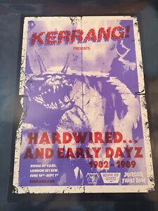 Metallica London pop up house of vans kerrang poster