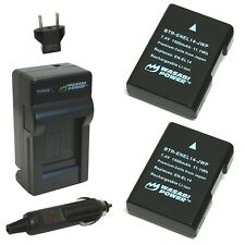 Wasabi Power Battery (2-Pack) and Charger for Nikon EN-EL14 EN-EL14a and Niko...