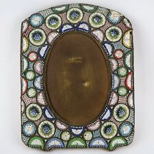 "Ancien, Grand ""Cadre Portrait Photo"" MICRO MOSAIQUE, Italy Mosaic Frame/Art 19th"