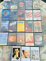 Job Lot 24 Album Cassette Tape Bundle British American Rock