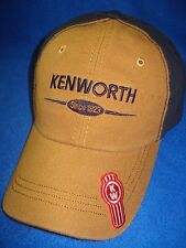 KENWORTH HAT:     BROWN CANVAS - SINCE 1923 CAP  * FREE SHIPPING IN U.S.A.*