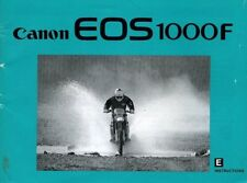 Canon EOS 1000F Instructions