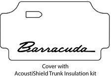 1967 1969 Plymouth Barr. Trunk Rubber Floor Mat Cover w/ MA-018 Barracuda Script