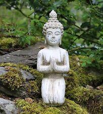 BUDDHA INGINOCCHIATO Pietra deriva da esterni Giardino Effetto Legno Indoor Statua Ornamento