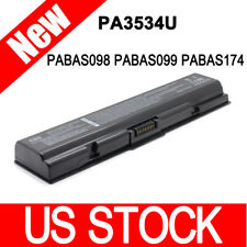 6 Cells Battery for Toshiba PA3534U-1BRS PA3535U-1BRS PA3727U PABAS098 Black