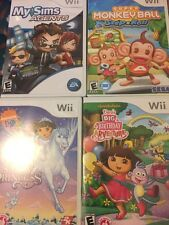 Super Monkey Ball: Step & Roll Nintendo Wii + 3 More Games! WOW DEAL!!